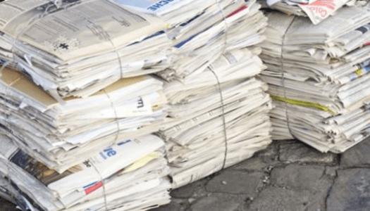 Zbiranje starega papirja za Tima Bučarja